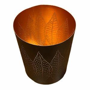 Crate&Barrel Copper Hurricane Mini Candle Holder